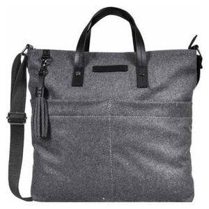 Sherpani Faith Ethos Wool Satchel Slate Tote Bag